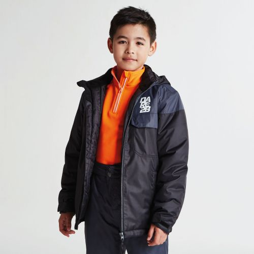 Dare2b KIDS TYKE SKI JACKET - Black / Ebony Grey